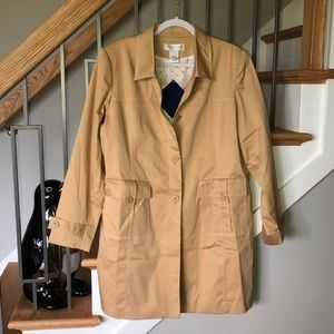 Susan Graver Tan  Trench Coat  Size Large NWT